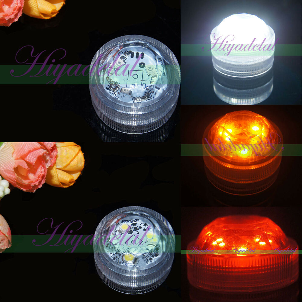 20 Waterproof 3 Led Candle Tea Light Bright Wedding