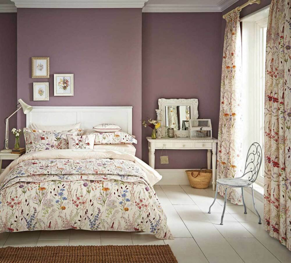 Blythe Meadow Flower Floral Duvet Cover Set Or Curtains Or