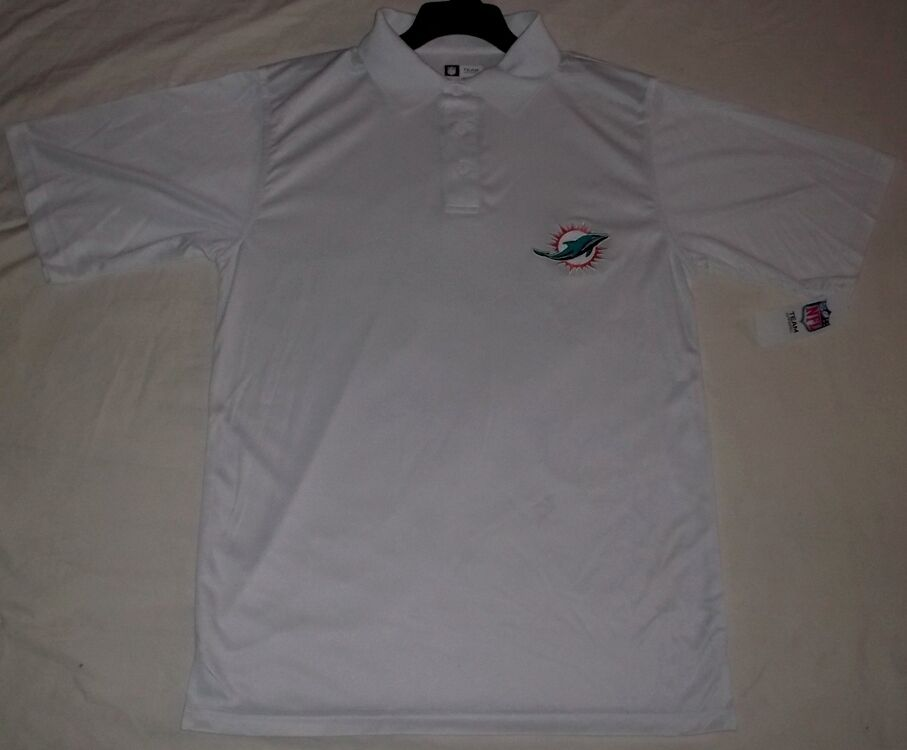Miami Dolphins Stay Dry Polo Shirt New Logo Embroidered