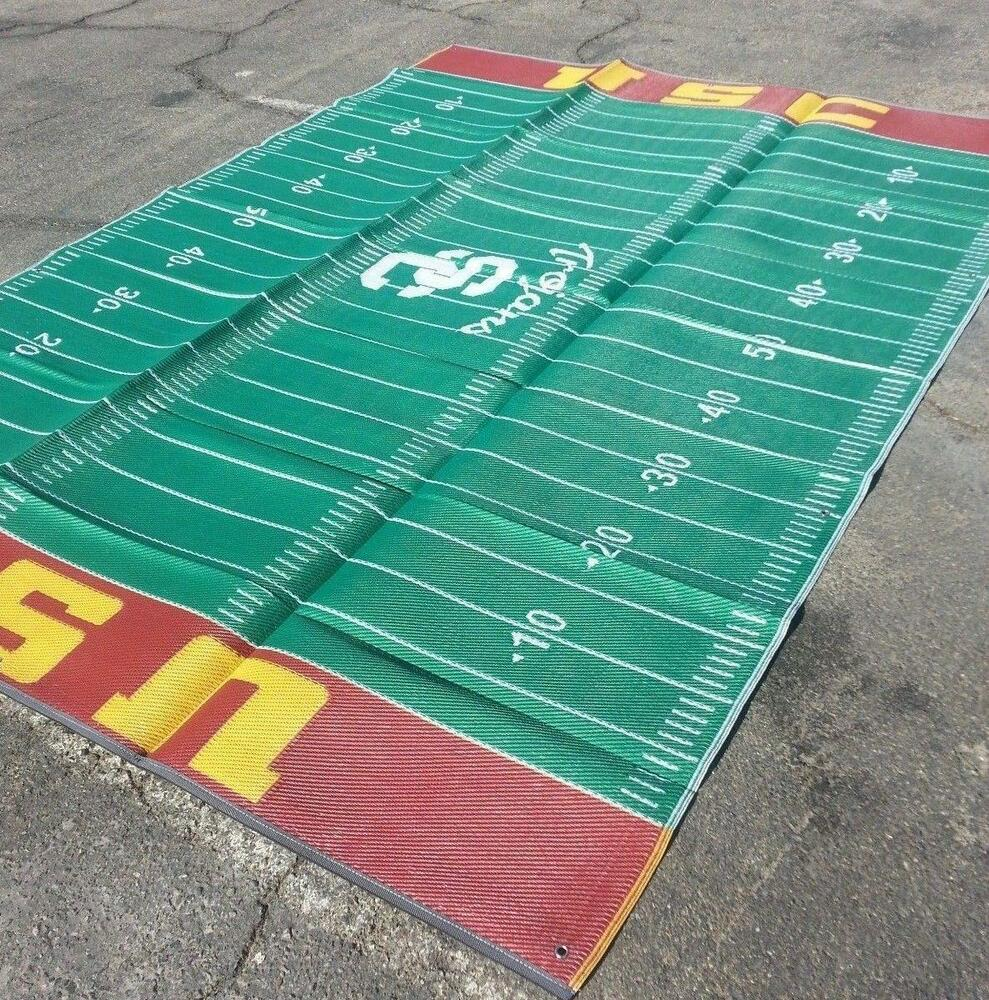 usc trojans rug trojan outdoor tailgating patio 9x12
