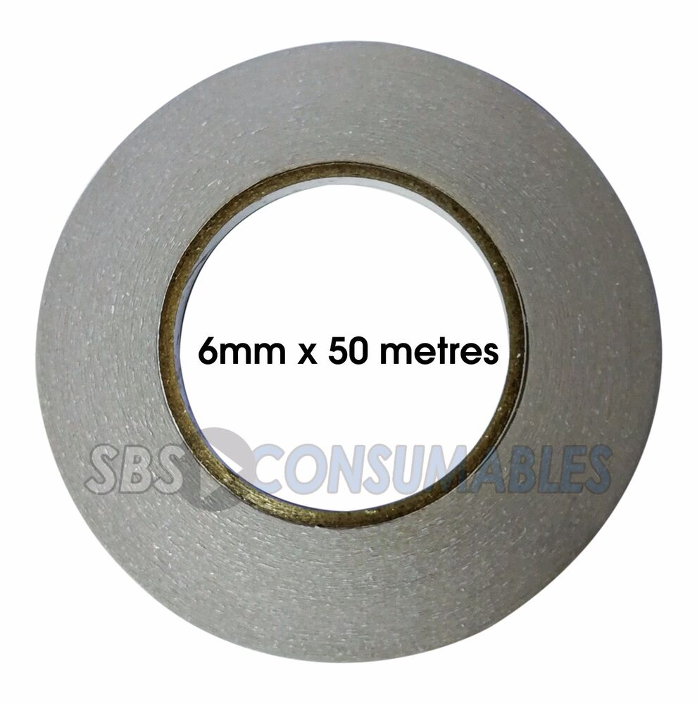2 pack of double sided tape 6mm x 50metres self for Double sided craft tape