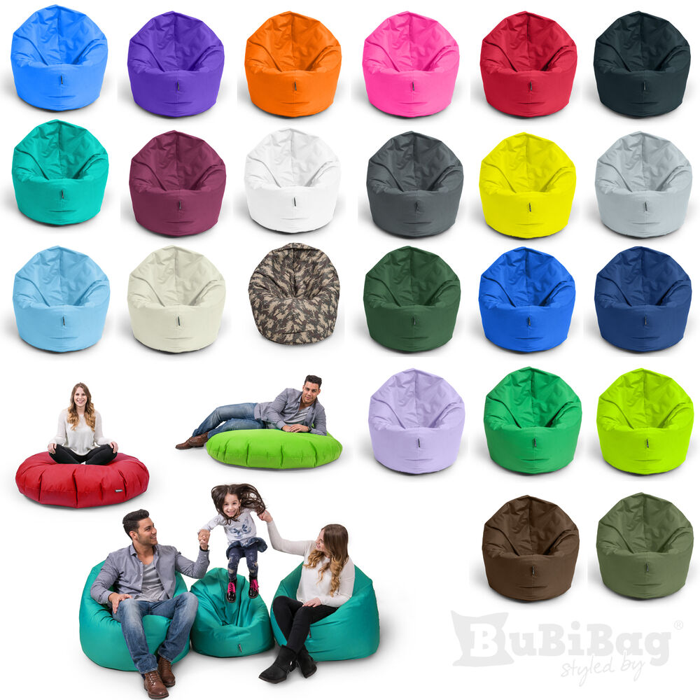 bubibag sitzsack 2 funktionen in 1 bodenkissen kissen beanbag tobekissen matte ebay. Black Bedroom Furniture Sets. Home Design Ideas