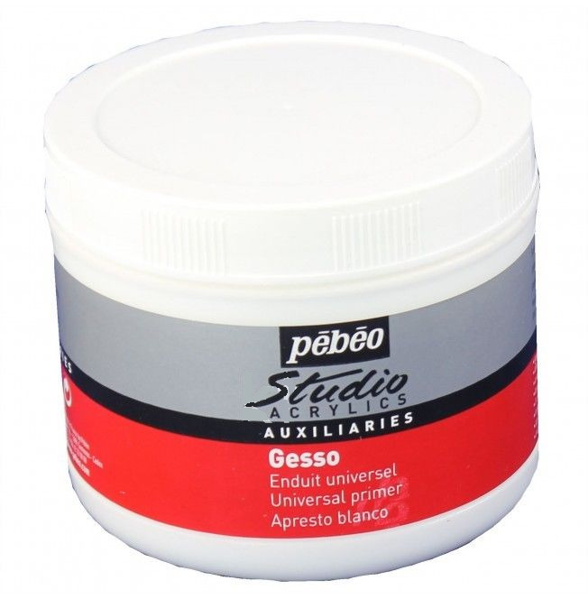 Pebeo studio white gesso artist acrylic oil paint canvas for Oil or acrylic