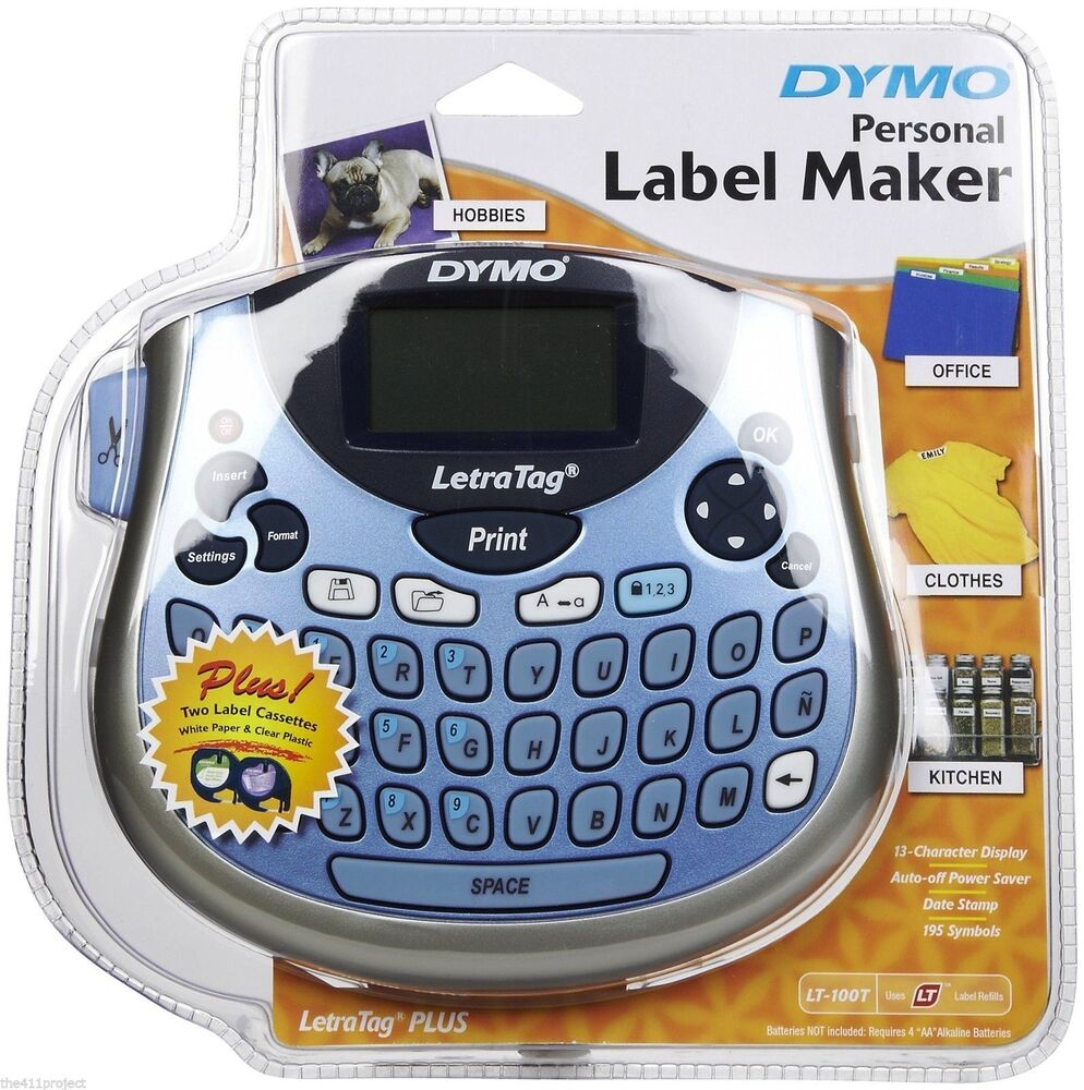 Dymo personal label maker printer letratag lt 100t plus 2 for Dymo custom labels