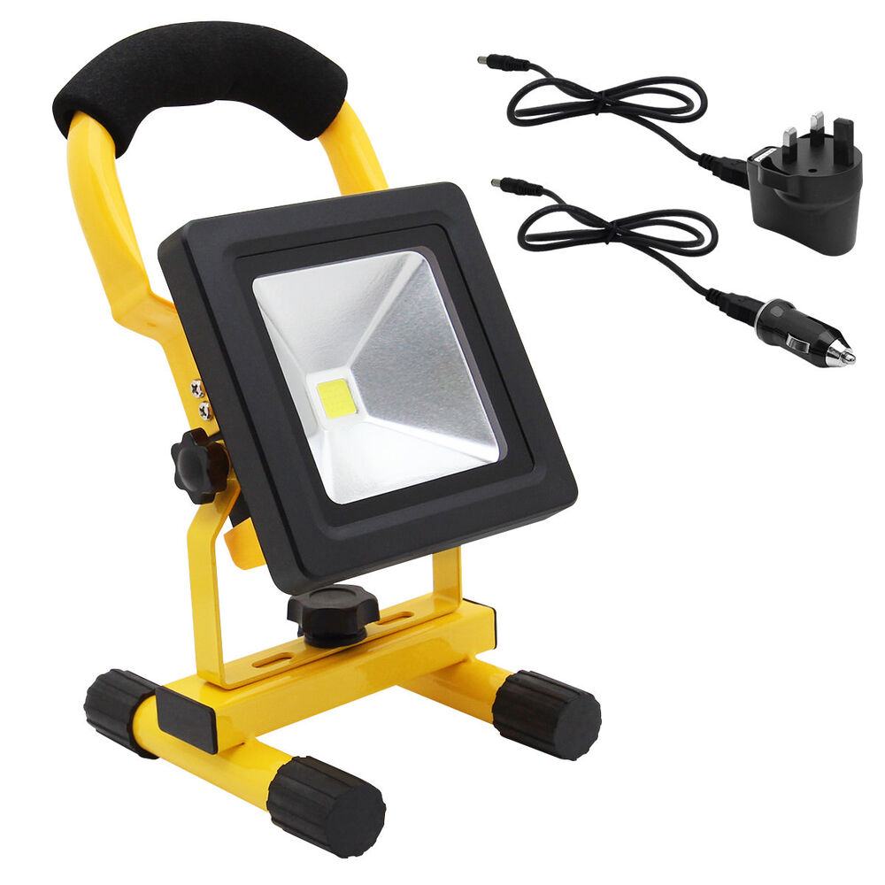 10w portable led work light cordless rechargeable ip65 12v. Black Bedroom Furniture Sets. Home Design Ideas