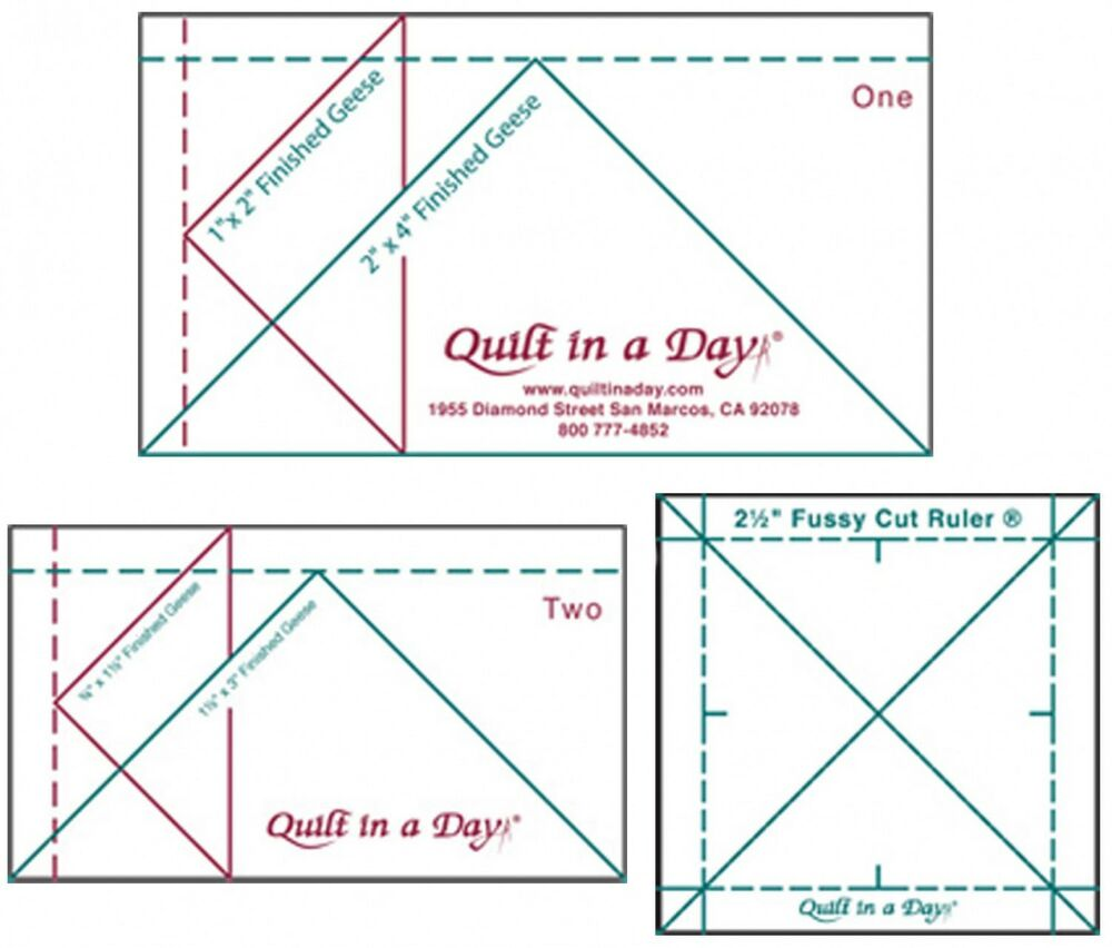 Mini Ruler Set Quilt In A Day 2 Mini Geese Rulers Amp 2 1