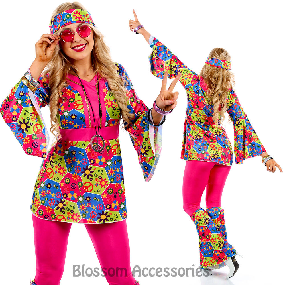 Dress Up: K19 60s 70s Go Go Retro Hippie Dancing Groovy Party Disco