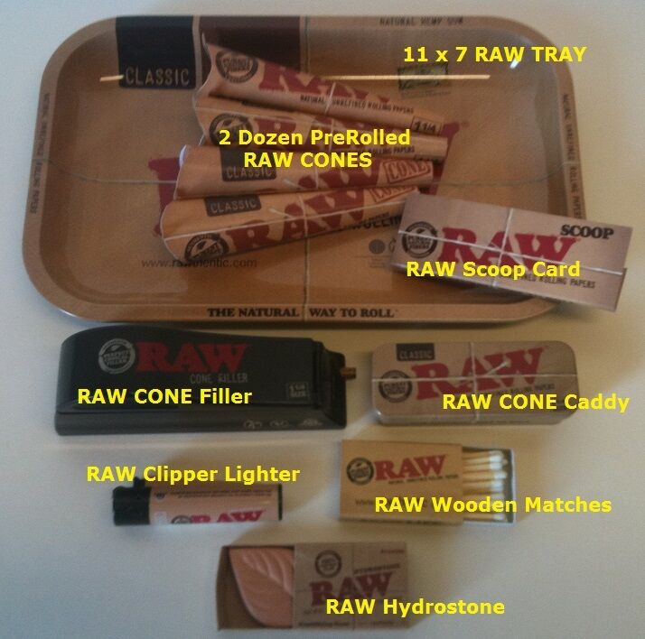 Raw Papers 1 1 4 Size Cones Bundle Tray Filler Scoop