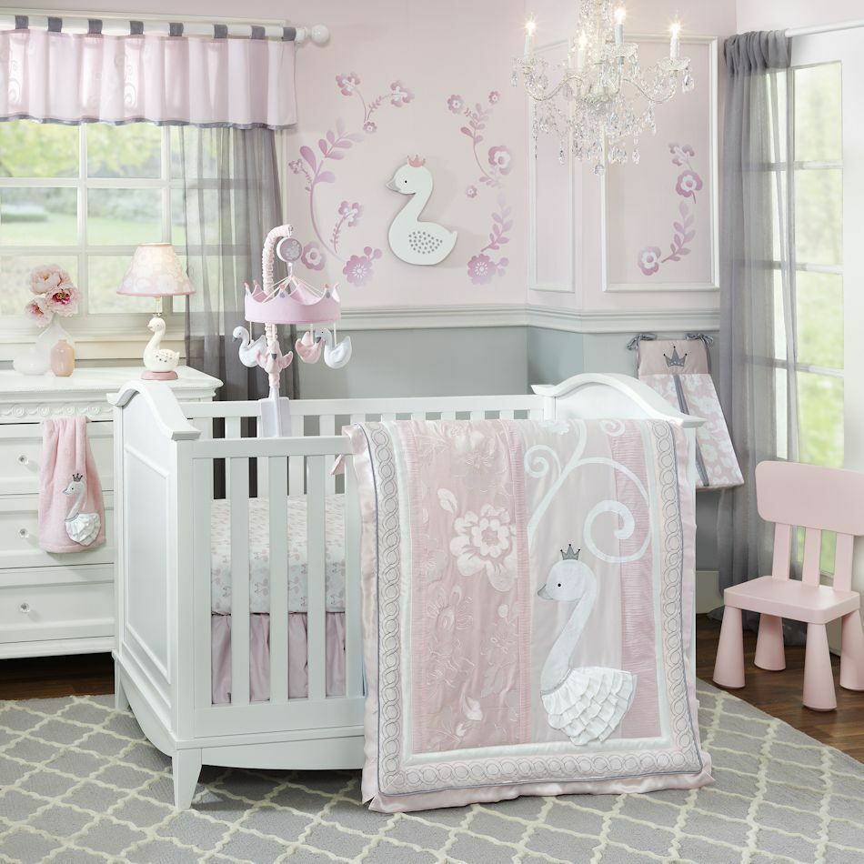 Baby bed ebay india - Lambs Amp Ivy Swan Lake 5 Piece Baby Nursery Crib Bedding Set With Bumper New Ebay