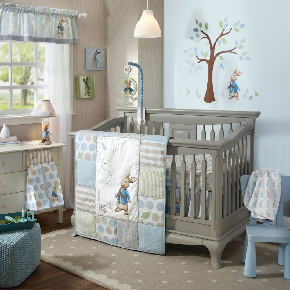 Baby bed ebay india - Lambs Amp Ivy Peter Rabbit 5 Piece Baby Nursery Crib Bedding Set W Bumper New Ebay