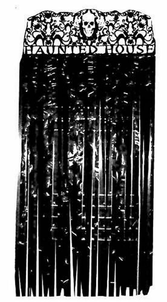 Halloween Door Cover Haunted House Curtain Entry