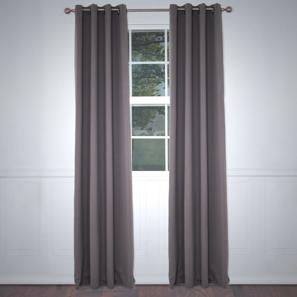 Blackout Single Curtain Panel Taupe 82 Inches Long 52