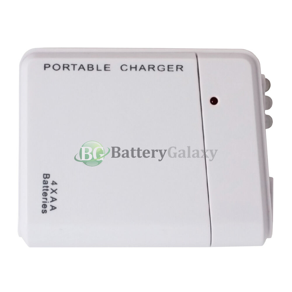 usb white emergency portable 4aa battery charger for iphone 6 4 7 6 plus 5 5 ebay. Black Bedroom Furniture Sets. Home Design Ideas
