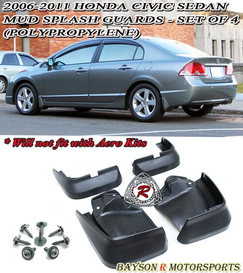 06 11 Civic 4dr Mud Flap Guards Kit Ebay