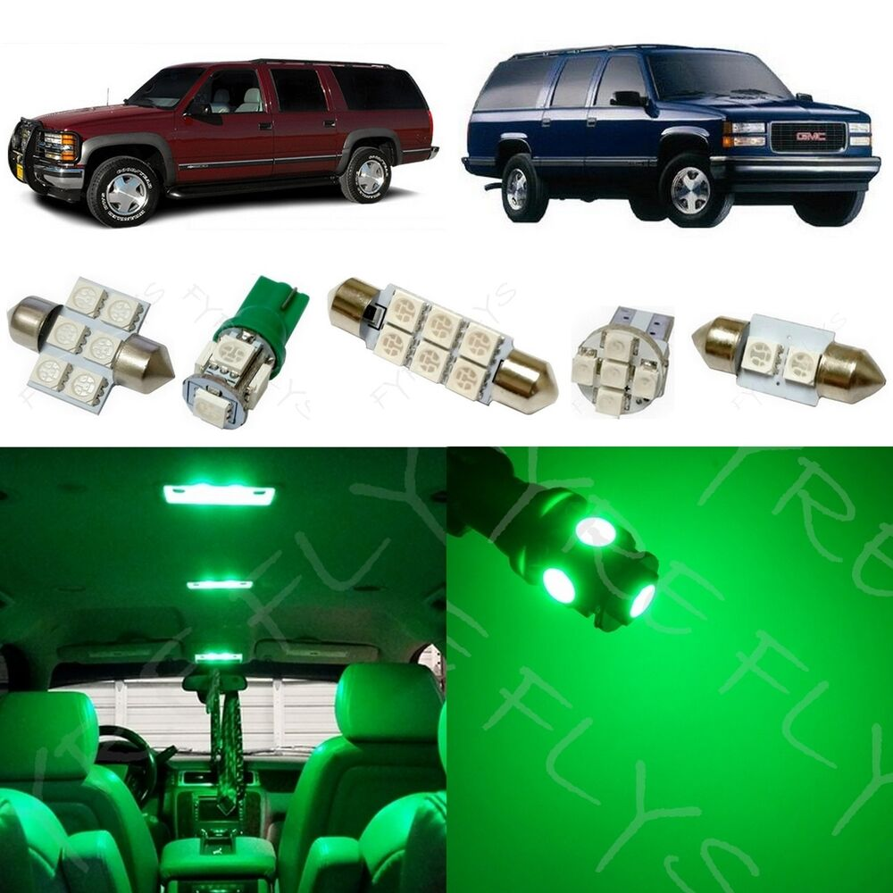 1995 Gmc Vandura G1500 Interior: 16x Green LED Lights Interior Package Kit For 1995-1999