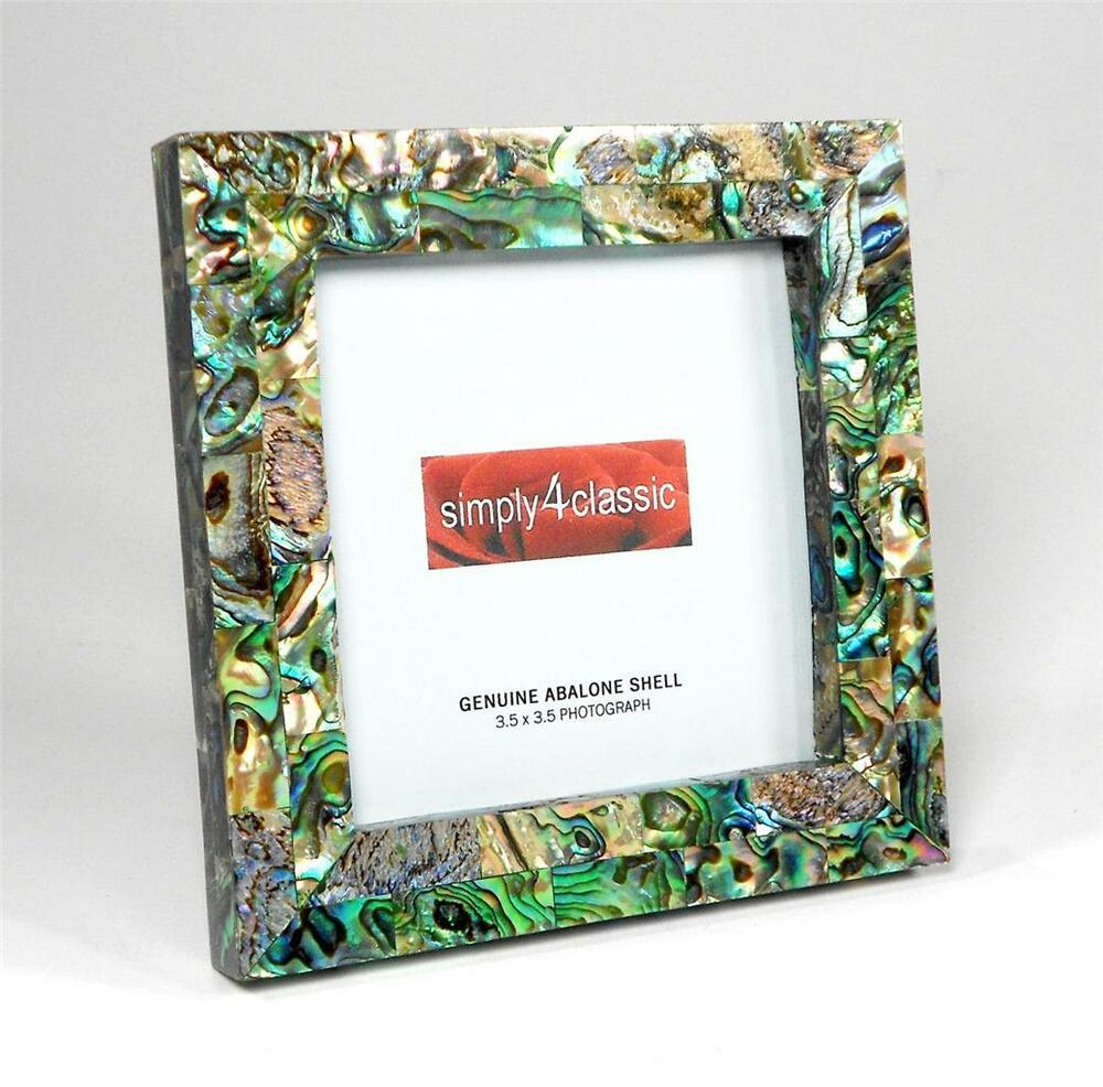 Genuine Abalone Paua Shell Mother Of Pearl Picture Frame 3