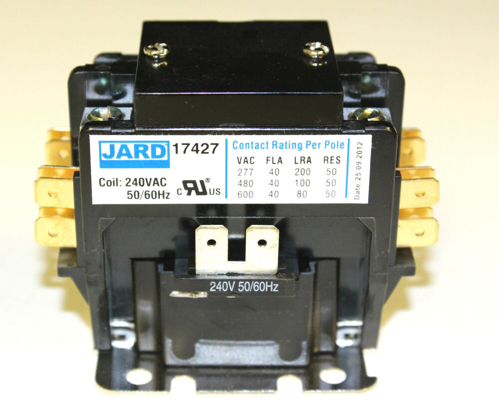 New 40 Amp 2 Pole 240 V Coil Definite Purpose Contactor