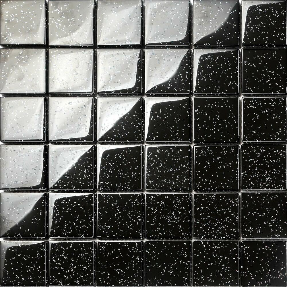 Black Glitter Kitchen Wall Tiles