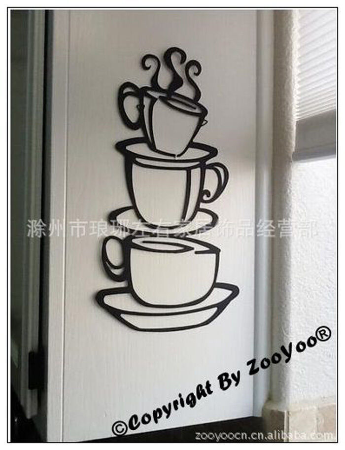 Wall stickers vinyl art kitchen dining room decor coffee for Kitchen dining room wall decor