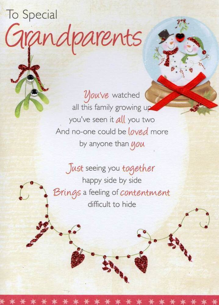 to special grandparents christmas greeting card traditional cards, Greeting card