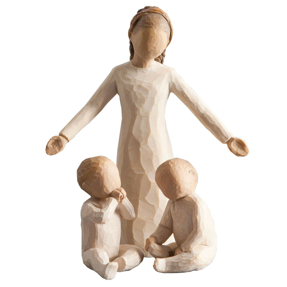 willow tree siblings big sister with twin babies figurine. Black Bedroom Furniture Sets. Home Design Ideas