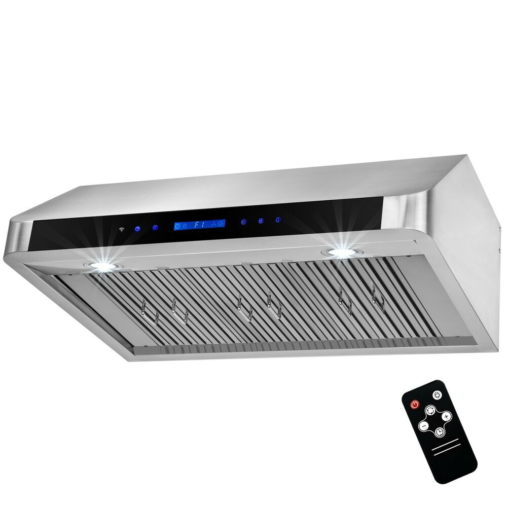 36 under cabinet stainless steel led range hood kitchen - Kitchen hood under cabinet ...