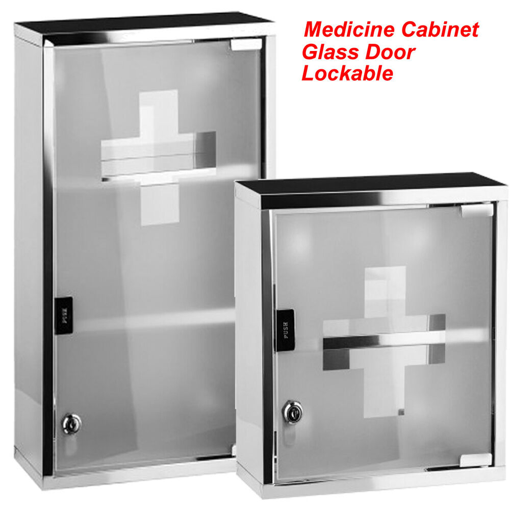first aid cabinet wall mounted lockable s steel medicine cabinet aid 15455