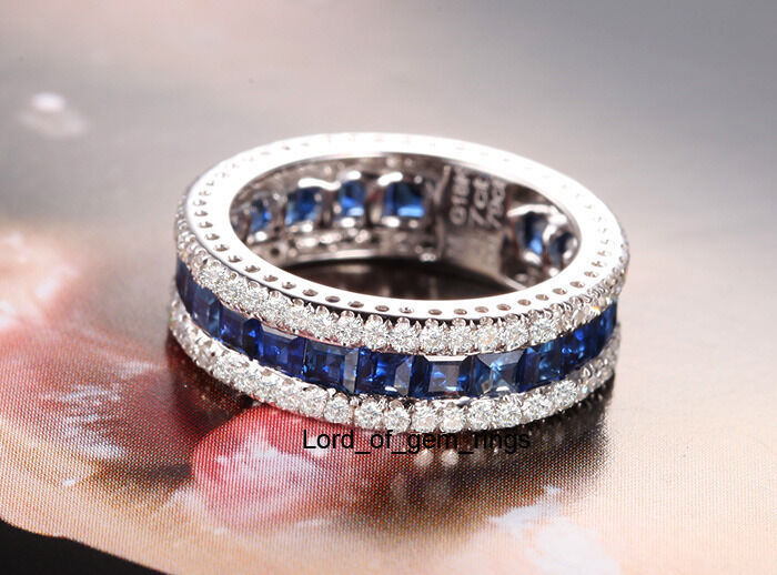 Blue And White Diamond Eternity Band