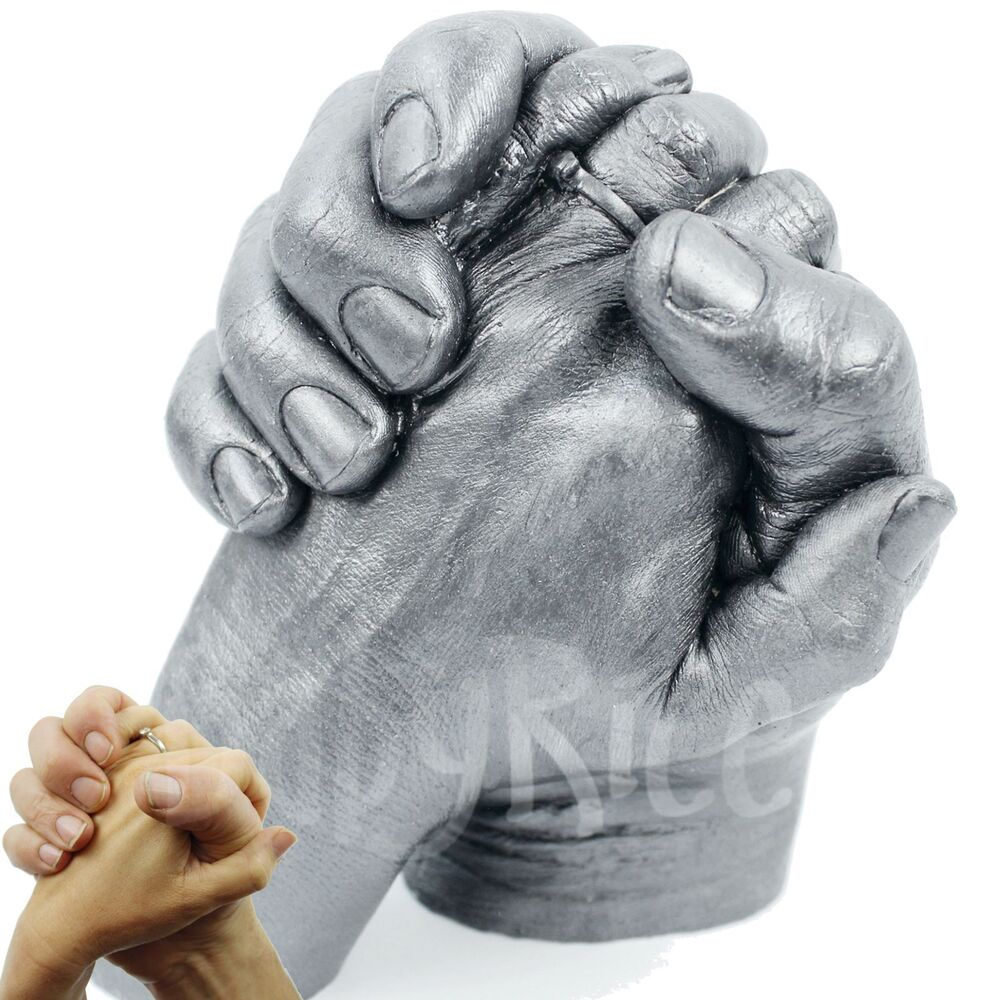 Adult Hand Life Casting Kit 3d Plaster Casts Anniversary