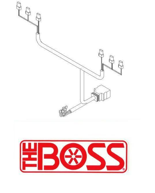 boss snow plow 13 pin wiring harness plow side msc08881. Black Bedroom Furniture Sets. Home Design Ideas