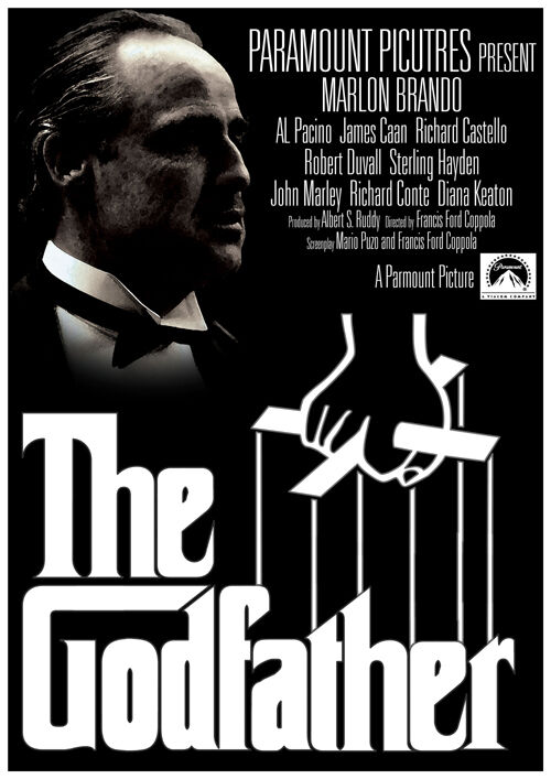 The Godfather Marlon Brando Al Pacino movie poster print ...