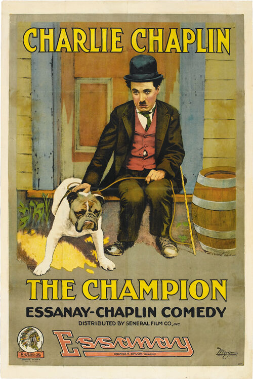The Champion (1915) Charlie Chaplin movie poster print | eBay
