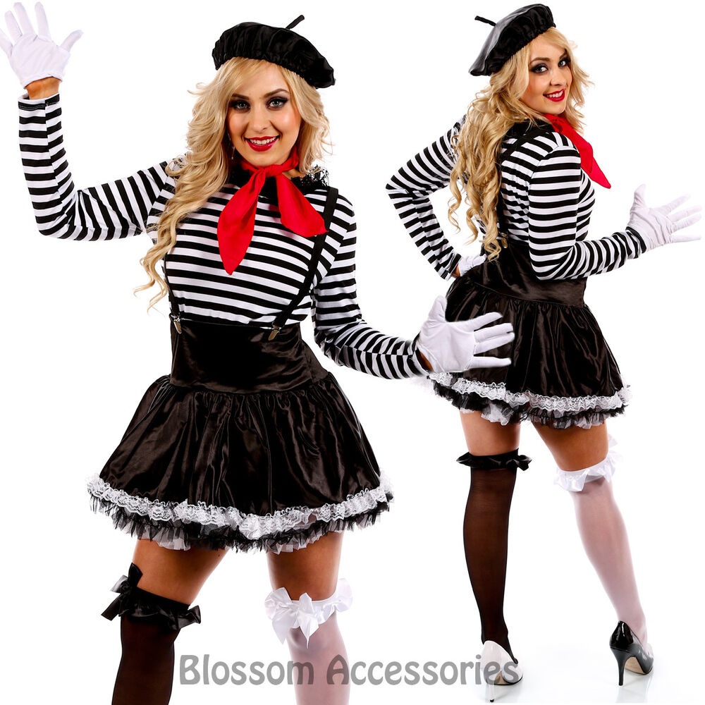 French Mime Costume Diy: K29 Mesmerizing Mime Costume French Artist Clown Circus