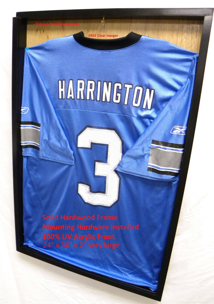 Jersey Display Case 3 Frame Shadow Box Football Baseball