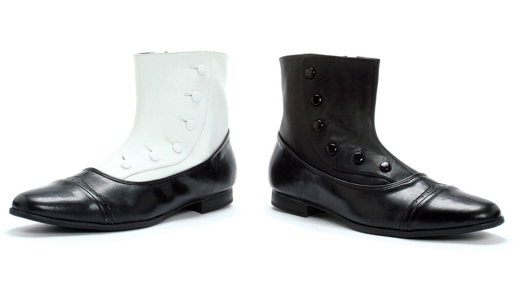 Black Gangster 20s Ankle Boots Downton Abbey Costume Mens