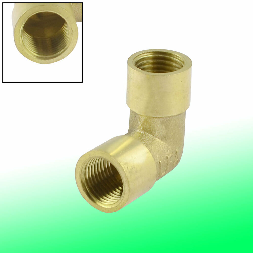 Right Angle Tee : Brass bsp female thread right angle pneumatic piping