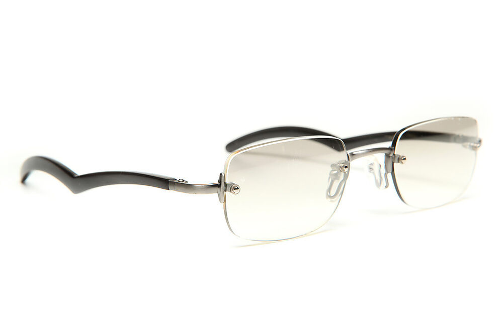GOLD AND WOOD RIMLESS EYEGLASSES GLASSES SUNGLASSES #112A ...