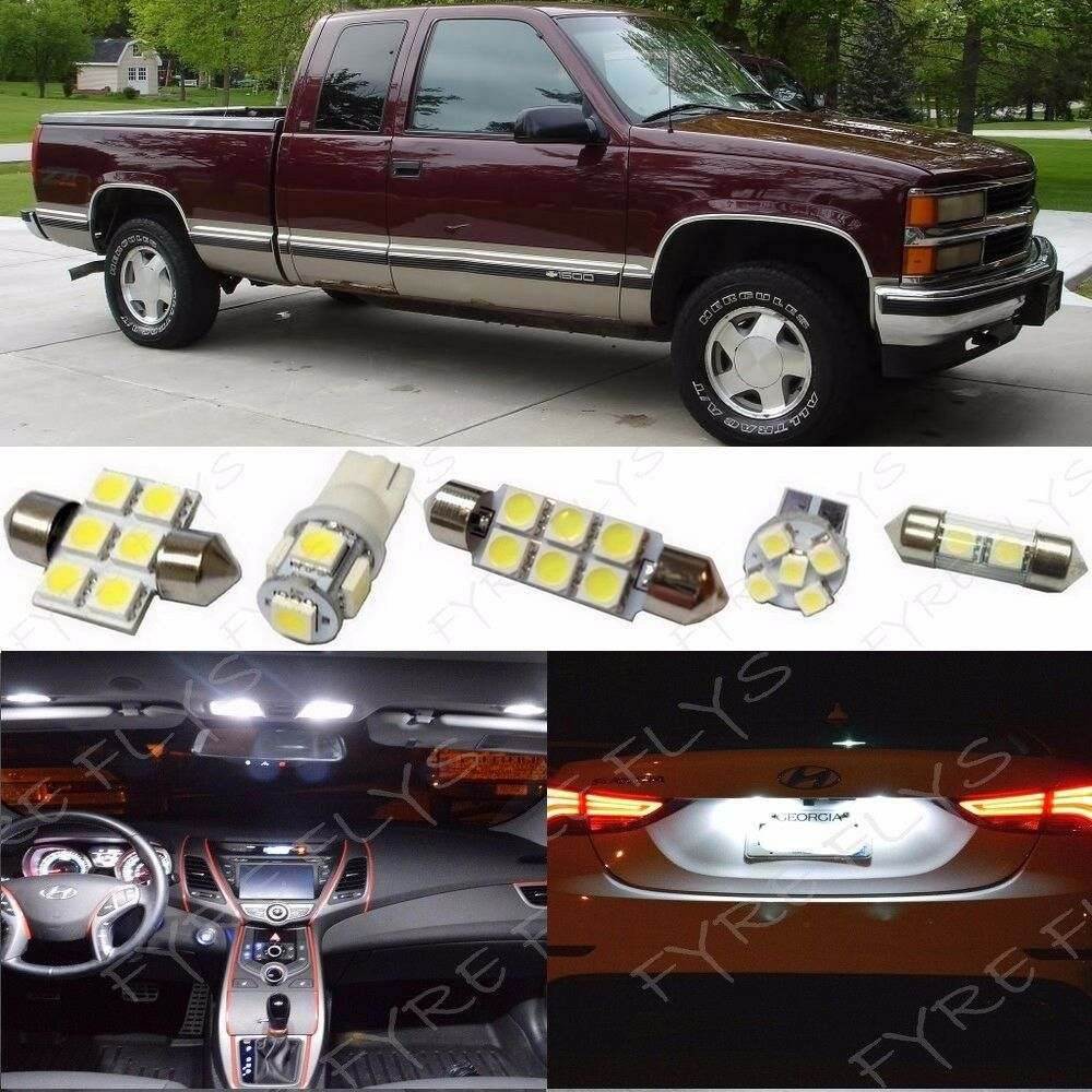 14x White LED Light Interior Package 1995 1998 Chevy