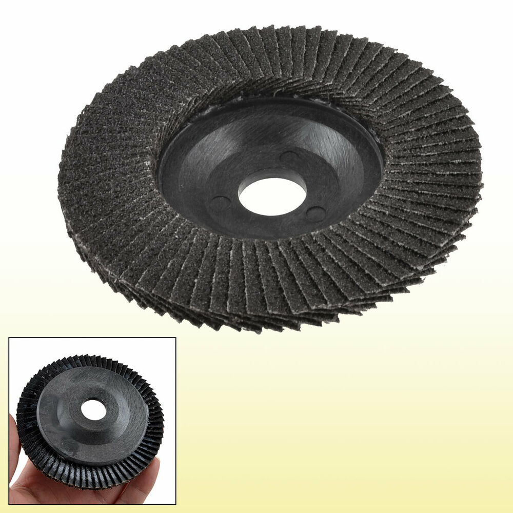 metal polishing 80 100mm dia flap sanding abrasive wheels discs disc ebay. Black Bedroom Furniture Sets. Home Design Ideas