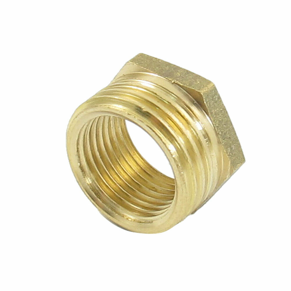 Mm male to female brass hex reducing bushing