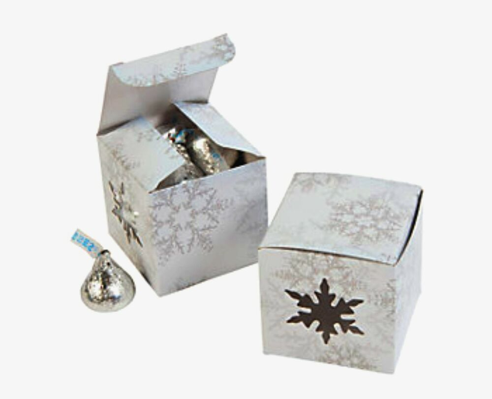 Snowflake window favor boxes winter wedding christmas