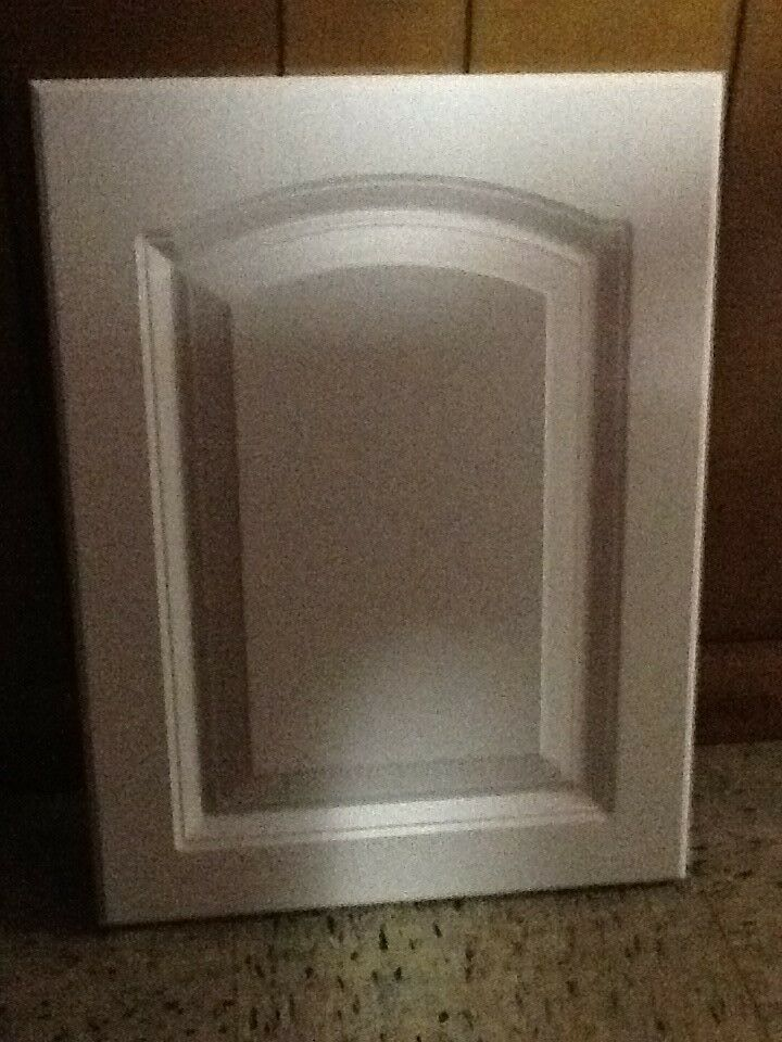 Cabinet Door White Eyebrow Arched Panel 15 7 8 X 19 3 4