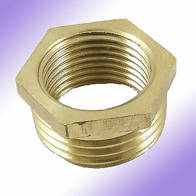 Pipe reducer mm brass hex head bushing connector ebay