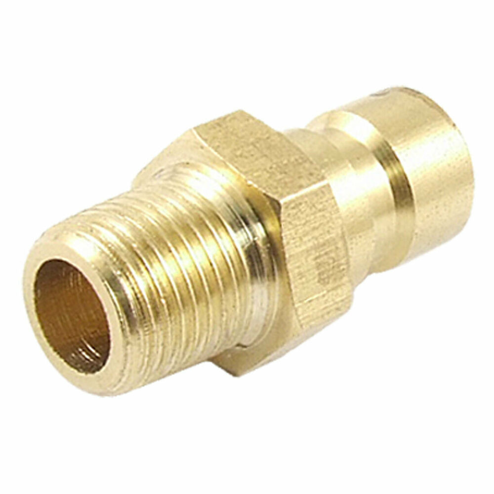 Brass quot fine thread straight connector mold quick