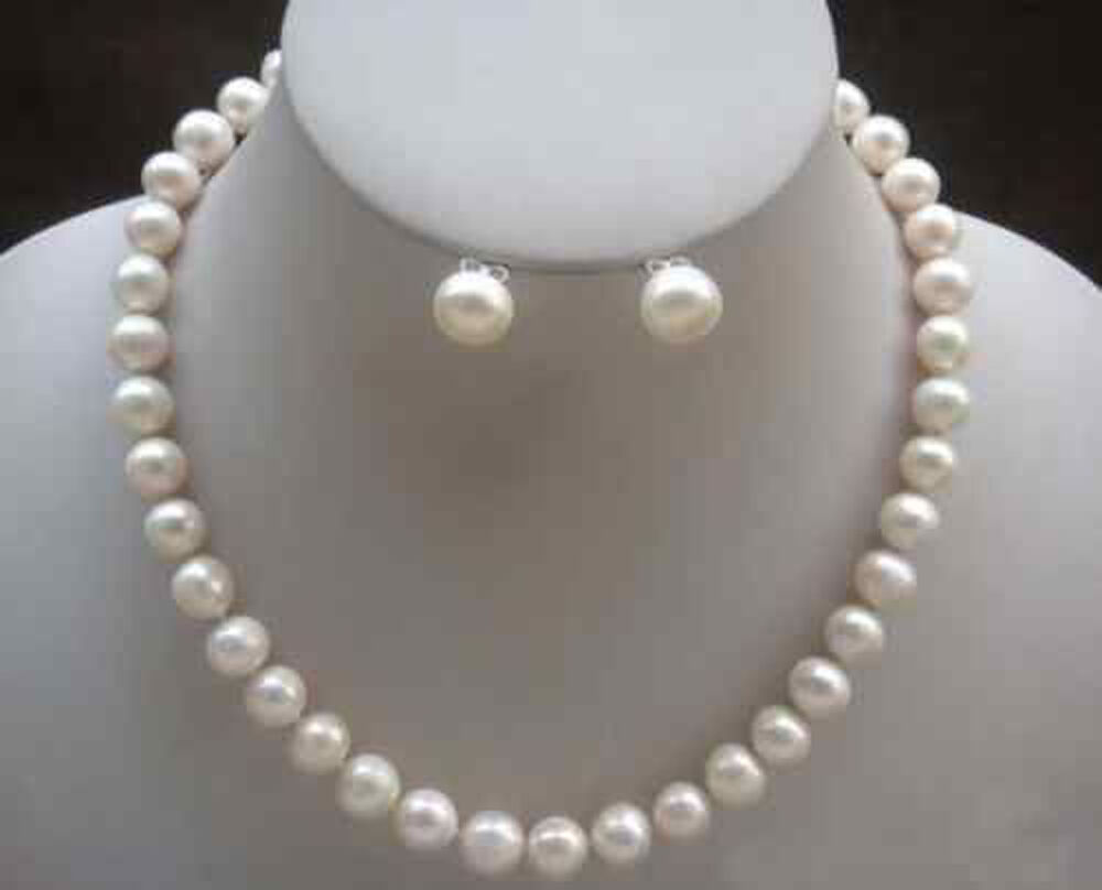 Beautiful! 7-8mm White Akoya Cultured Pearl Necklace ...