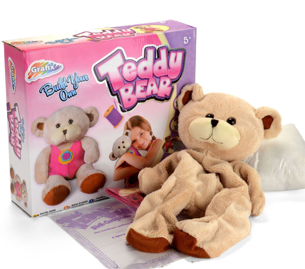 Make your own teddy create build a bear stuffed soft toy for Make your own teddy bear template