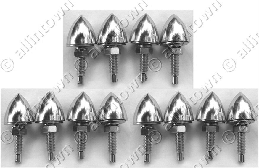 12 Chrome Bullet License Plate Frame Bolts Motorcycle