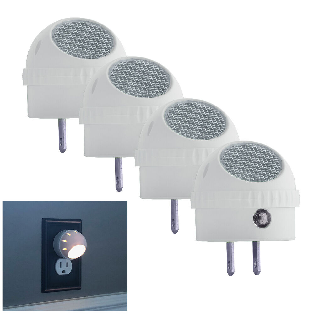 4 Pack Led Night Light Plug In With Auto Sensor Photocell