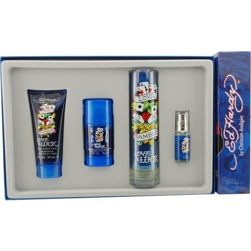 Ed Hardy Perfume For Women By Christian Audigier: ED Hardy LOVE & LUCK 3.4 Oz 4PC Gift Set MEN COLOGNE PERFUME CHRISTIAN AUDIGIER 94922912176