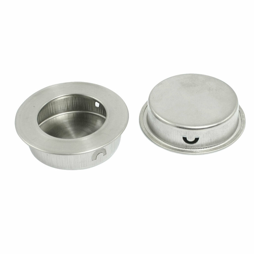 Concealed Fix Stainless Steel Round Flush Pull Handle 2pcs